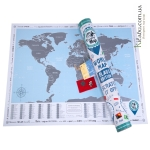 Скретч карта мира Discovery Map World Flags Edition ENG